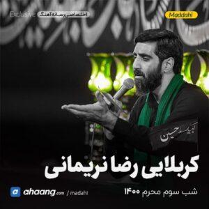 مداحی شب سوم محرم 1400 کربلایی رضا نریمانی